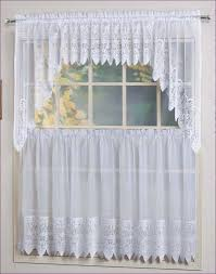 Lace Priscilla Curtains With Attached Valance by Living Room Walmart Kitchen Curtains Beaded Curtains Tier
