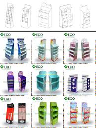 Creative Cosmetic Point Of Sale Display With Cardboard MaterialCosmetic Floor