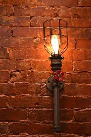 steunk wall sconce industrial light by westninthvintage