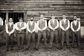 Outdoor Rustic Wedding In Tennessee With Dapperly Dressed Groom And Groomsmen