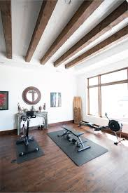100 Rustic Ceiling Beams Spanish Style Home Gym Mesquite Hardwood