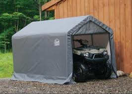 6 ft Wide Motorcycle & ATV Polyethylene Carport Shelters Instant