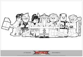 Ninjago Team Printable Coloring Page