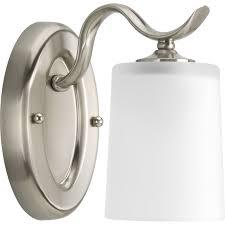 progress lighting p2018 inspire single light bathroom sconce with