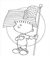 American Flag Coloring Page Printable