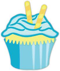 blue clipart birthday cupcake 14