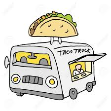 An Image Of A Mexican Taco Food Truck. Royalty Free Cliparts ...