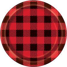 Michaels Wedding Supplies Canada by Lumberjack Buffalo Plaid Dessert Plates Lumberjack Party Supplies