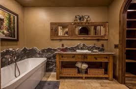 Bathroom Rustic Designs Diy Ideas Cream Floor Brown Wall Small Gray Rug