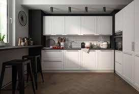 küchenzeile küchenblock küche grau ral 9010 reinweiß matt lackiert landhaus