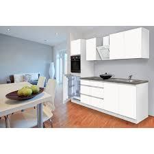 respekta küchenzeile glrp270hwwm grifflos 270 cm weiß matt