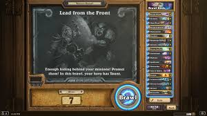 Alarm O Bot Deck Lich King by This Week U0027s Tavern Brawl Is Lead From The Front Hearthstone