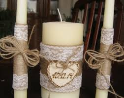 Unity Rustic Ceremony Candles
