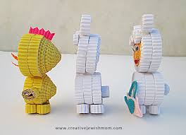 Corrugated Cardboard Animals Craft Side View