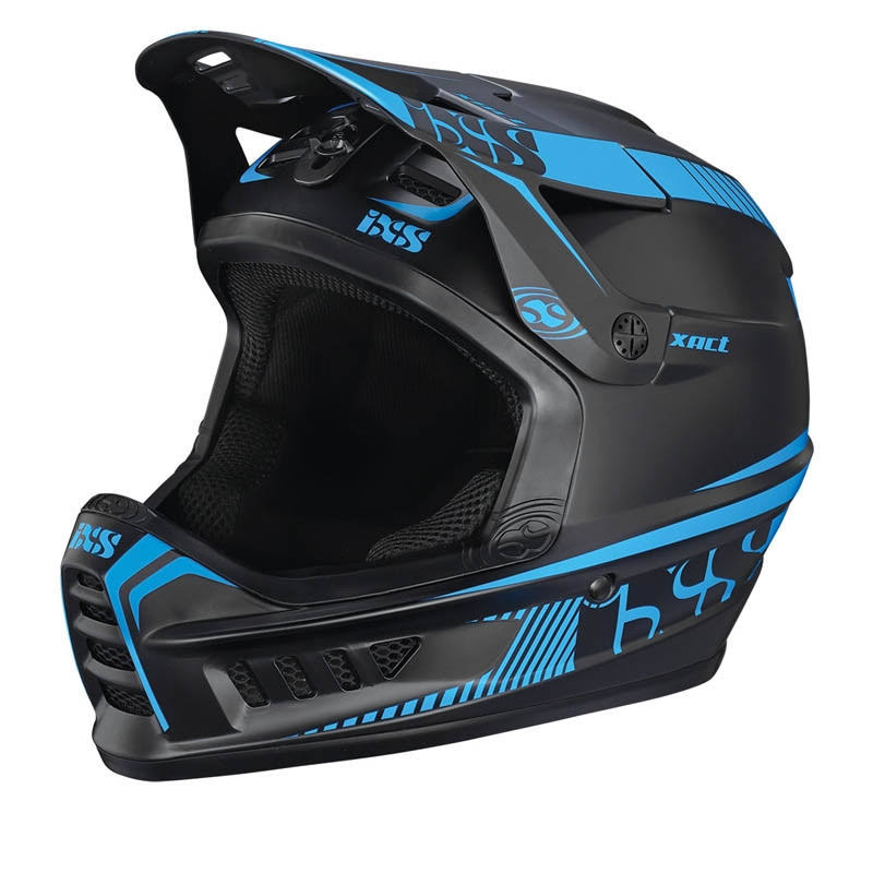 Ixs Xact helmet - Black Fluorescent Blue, Medium