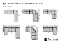 flexsteel nuvo leather n7305 vail sectional group