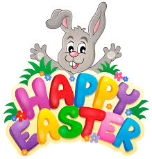 Transparent Happy Easter with Bunny PNG Clipart Picture