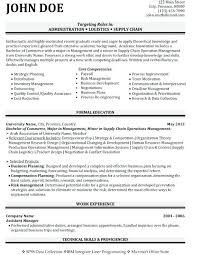 Resume Sample For Office Manager Administrator Example Database