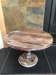 Rustic Wood Cake Stand This Pedestal Stands 75 Tall And 12 Wide Undefined