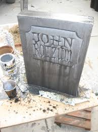 Halloween Tombstones Diy by Dave Lowe Design The Blog 14 Days U0027til Halloween Fed Ex Box