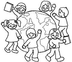 All Kids Around The World Coloring Page