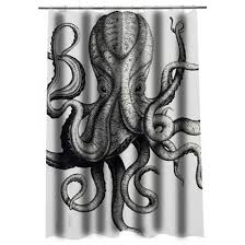 Octopus Shower curtain Justvero