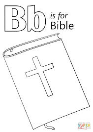 Click The Letter B Is For Bible Coloring Pages