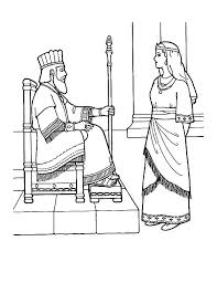 Esther Queen Talking To King Coloring Pages