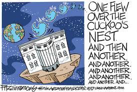 Political Cartoon US Trump Tweets