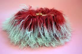 knuckle ring mongolian fur rabbit fur box clutch u2013 milanblocks