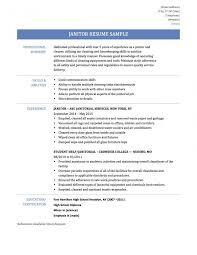 Janitor Resume Sample Socalbrowncoats Janitorial Example Examples Samples Custodian Of