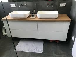 waschtisch platte brett konsole baumkante für unterschrank bad wc