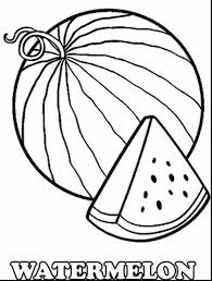 Magnificent Watermelon Coloring Page With And W Is For Pages