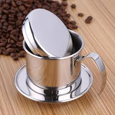 Stainless Steel Vietnam Coffee Pour Over Dripper Filter Maker Drip Pot Single Cup