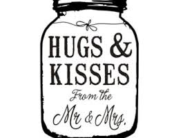 The Hugs And Kisses From Mr Mrs Clipart