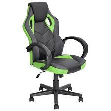 fauteuil de bureau vert linto fauteuil de bureau baquet simili pu et tissu maille noir