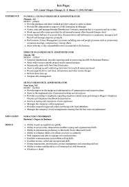 Hr Administrator Resume Sample - Suzen.rabionetassociats.com