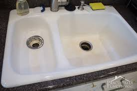 How To Clean A Porcelain Sink including the stains and scuff marks