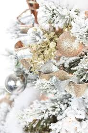 Flocking Christmas Tree Kit by Gold And Silver Winter Wonderland Tree
