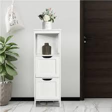 yaheetech badkommode badschrank badezimmerschrank schubladen badregal mit 4 etagen eckschrank medizinschrank weiß