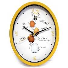 horloge de cuisine cuisine ludik jaune