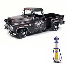 100 Cameo Truck Diecast Car Gas Pump Package Three Stooges 1955 Chevy
