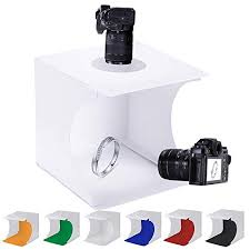 104 Studio Tent Senlixin Mini Photo Jewelry Light Box Kit Portable Foldable Small Home Photography Light Box Booth Shooting With Led Light Strips With 6 Color Background 20x20x20cm Buy Online