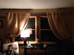 Bed Bath And Beyond Grommet Blackout Curtains by Burlap Curtains Didn U0027t Make Them Purchased Them From Bed Bath