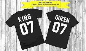 any number couple t shirts king queen couple