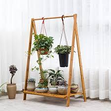 faltbare blumen pflanzenregale regal bambus standregal
