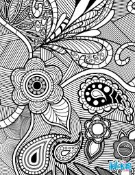 Adult Coloring Pages Flowers Paisley Design