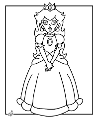 Best Princess Peach Coloring Pages 71 With Additional Print