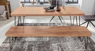wohnling esszimmer sitzbank bagli massiv holz akazie 120 x 45 x 40 cm holz bank natur produkt küchenbank im landhaus stil