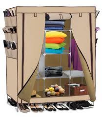 OxGord Portable Storage Organizer Wardrobe Closet & Shoe Rack